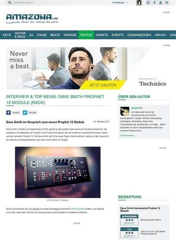 Amazona.de Interview & Top News: Dave Smith Prophet 12 Module (Rack)
