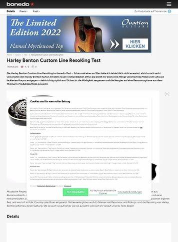 Bonedo.de Harley Benton Custom Line ResoKing Test