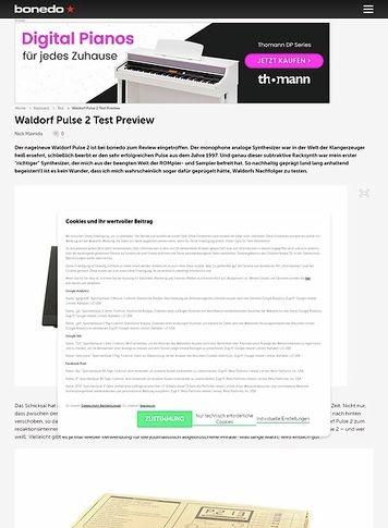 Bonedo.de Waldorf Pulse 2 Test Preview