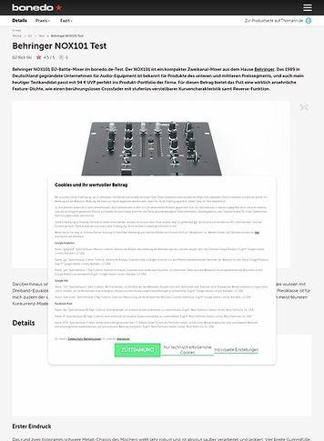 Bonedo.de Behringer NOX101 Test