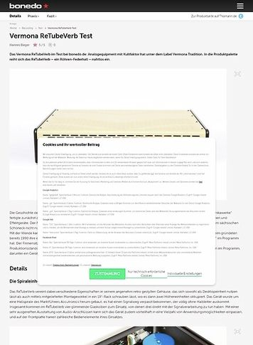 Bonedo.de Vermona ReTubeVerb Test