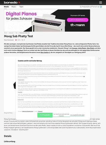 Bonedo.de Moog Sub Phatty Test