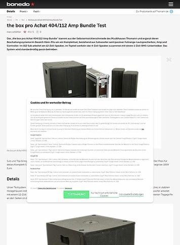 Bonedo.de the box pro Achat 404/112 Amp Bundle Test