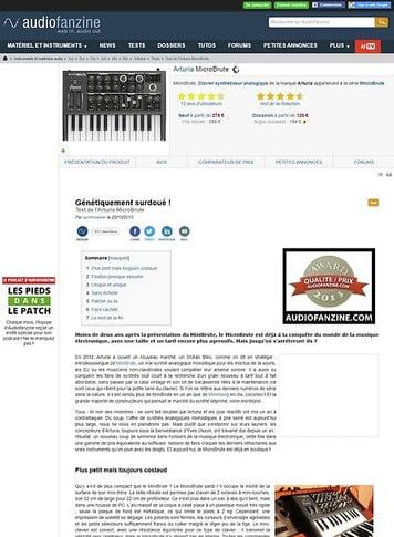 Audiofanzine.com Arturia MicroBrute