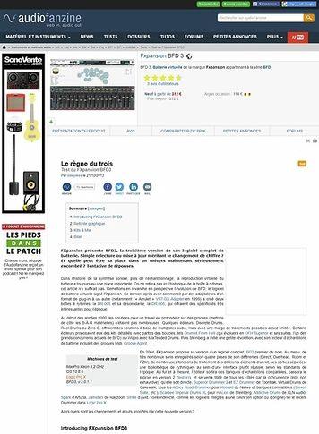 Audiofanzine.com Fxpansion BFD 3