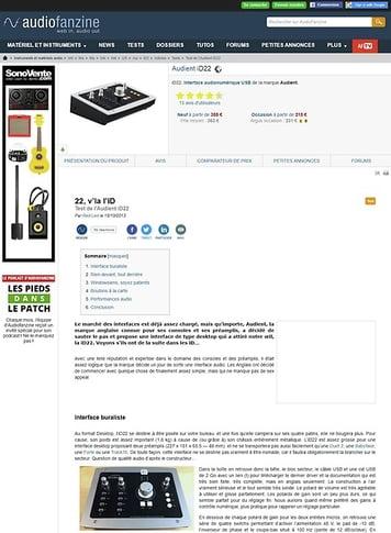Audiofanzine.com Audient iD22