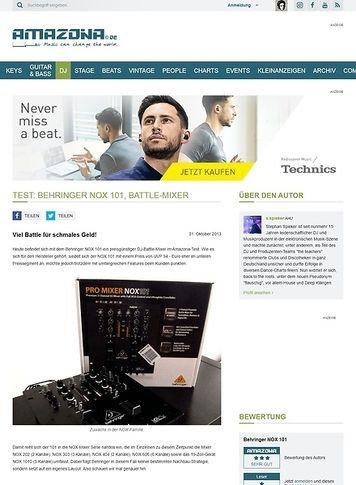 Amazona.de Test: Behringer Nox 101, Battle-Mixer