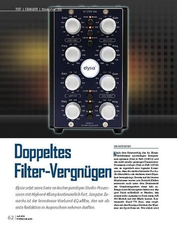 Professional Audio Elysia xfilter 500