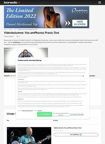Bonedo.de Videokolumne: Vox amPhones - Verstäker für die Ohren