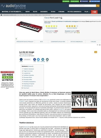 Audiofanzine.com Clavia Nord Lead 4