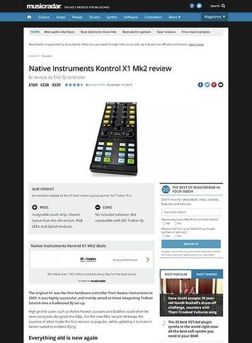 MusicRadar.com Native Instruments Kontrol X1 Mk2