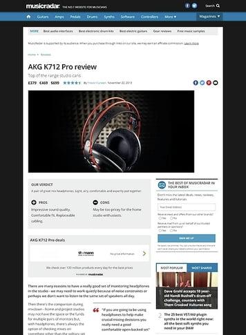 MusicRadar.com AKG K712 Pro