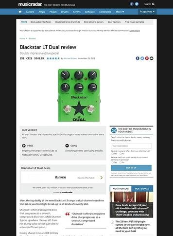 MusicRadar.com Blackstar LT Dual
