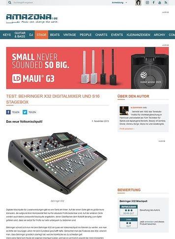 Amazona.de Behringer X32 Digitalmixer und S16 Stagebox