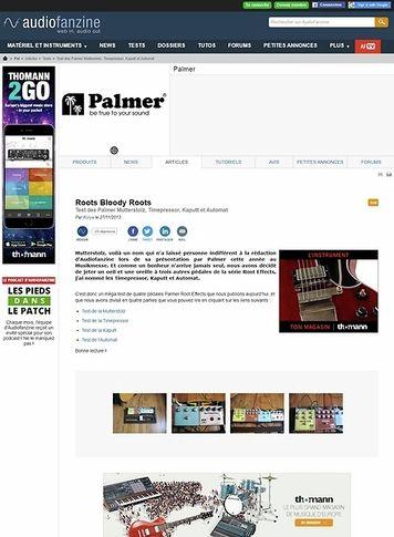Audiofanzine.com Palmer