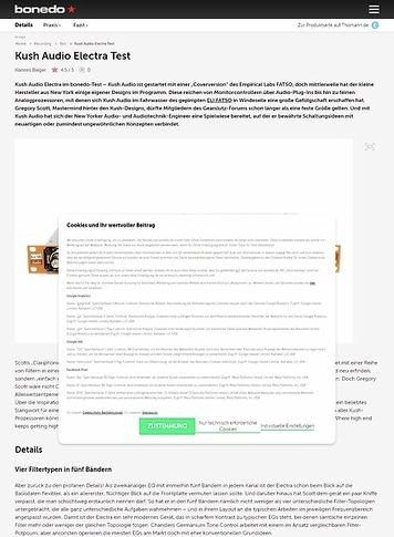 Bonedo.de Kush Audio Electra Test