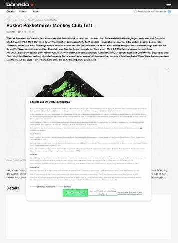 Bonedo.de Pokket Pokketmixer Monkey Club Test