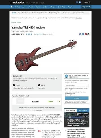 MusicRadar.com Yamaha TRBX504