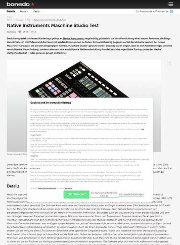 Bonedo.de Native Instruments Maschine Studio Test