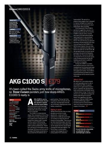 Future Music AKG C1000S