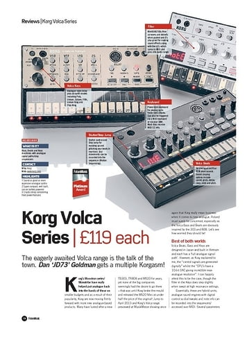 Future Music Korg Volca Series