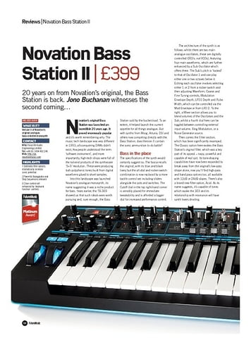 Future Music Novation Bass Station II