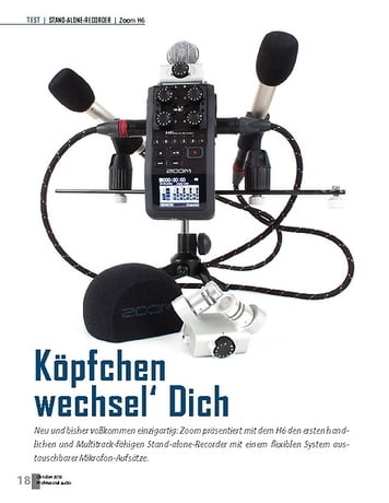 Professional Audio Zoom H6