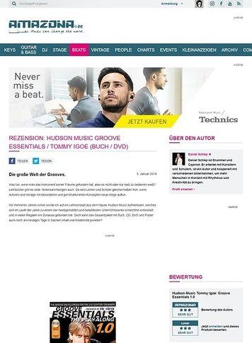 Amazona.de Rezension: Hudson Music Groove Essentials / Tommy Igoe (Buch / DVD)