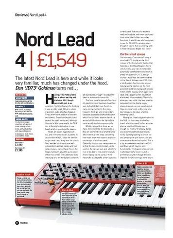 Future Music Nord Lead 4
