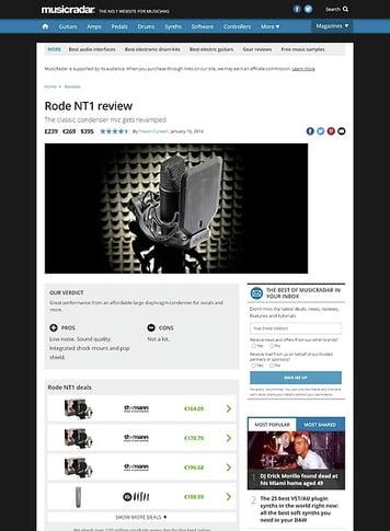 MusicRadar.com Rode NT1