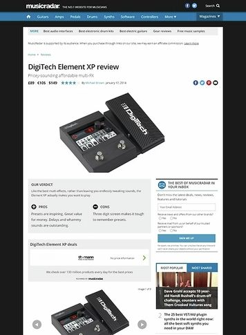 MusicRadar.com Digitech Element XP