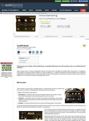 Audiofanzine.com Markbass Super Synth