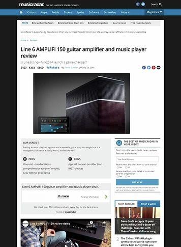 MusicRadar.com Line 6 AMPLIFi 150 guitar amplifier and music player