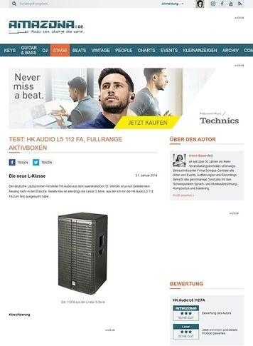 Amazona.de Test: HK Audio L5 112 FA, aktive Fullrange Box