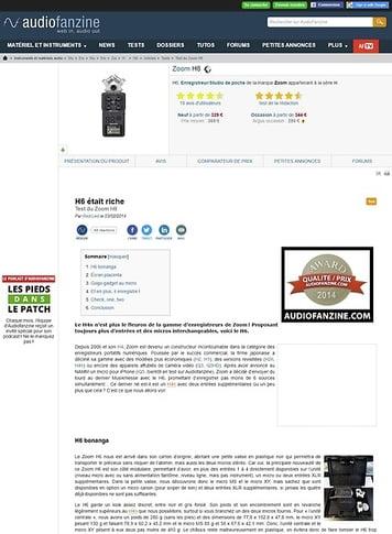 Audiofanzine.com Zoom H6