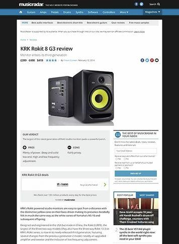 MusicRadar.com KRK Rokit 8 G3