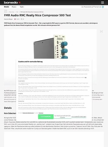 Bonedo.de FMR Audio RNC Really Nice Compressor 500 Test