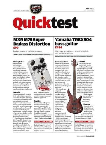 Guitarist Yamaha TRBX504