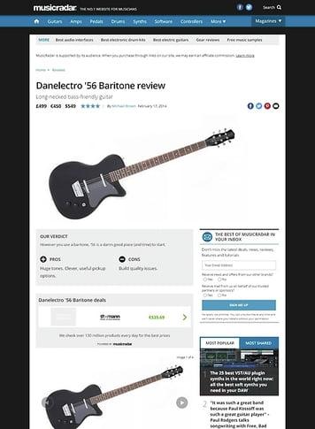 MusicRadar.com Danelectro '56 Baritone