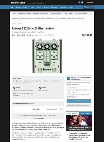MusicRadar.com Ibanez ES2 Echo Shifter