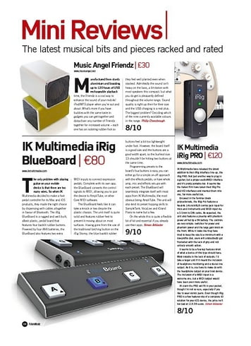 Future Music IK Multimedia iRig BlueBoard
