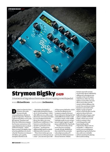Guitarist Strymon BigSky