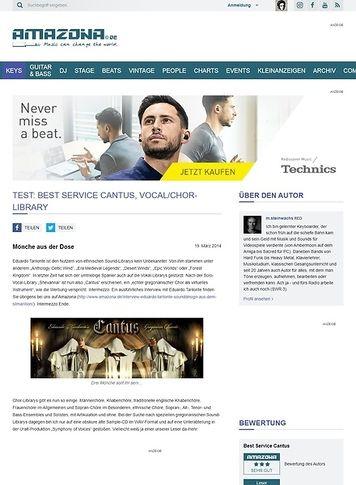 Amazona.de Test: Best Service Cantus, Vocal/Chor-Library