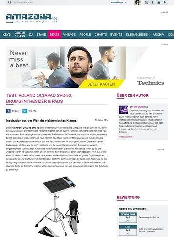 Amazona.de Test: Roland Octapad SPD-30, Drumsynthesizer & Pads