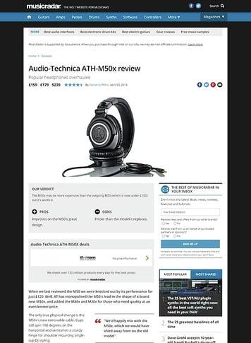 MusicRadar.com Audio-Technica ATH-M50x
