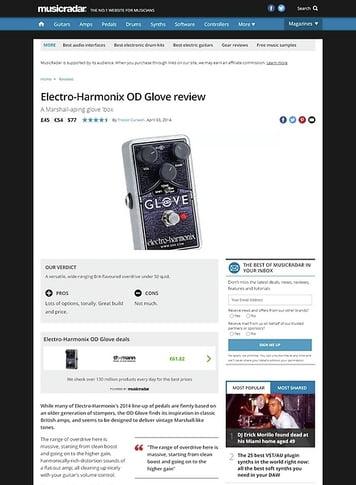 MusicRadar.com Electro-Harmonix OD Glove