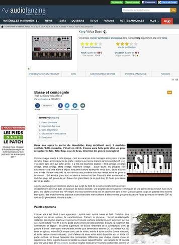 Audiofanzine.com Korg Volca Bass