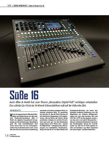 Professional Audio Süße 16