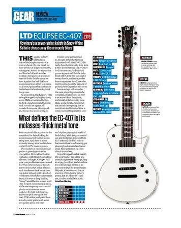 Total Guitar LTD Eclipse EC-407