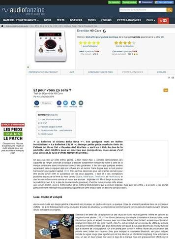 Audiofanzine.com Eventide H9 Core